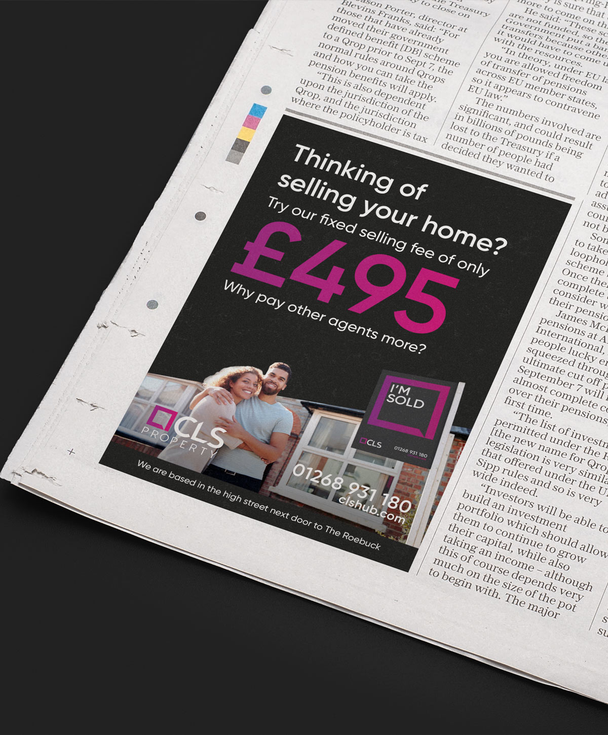 Magazine advert design suffolk