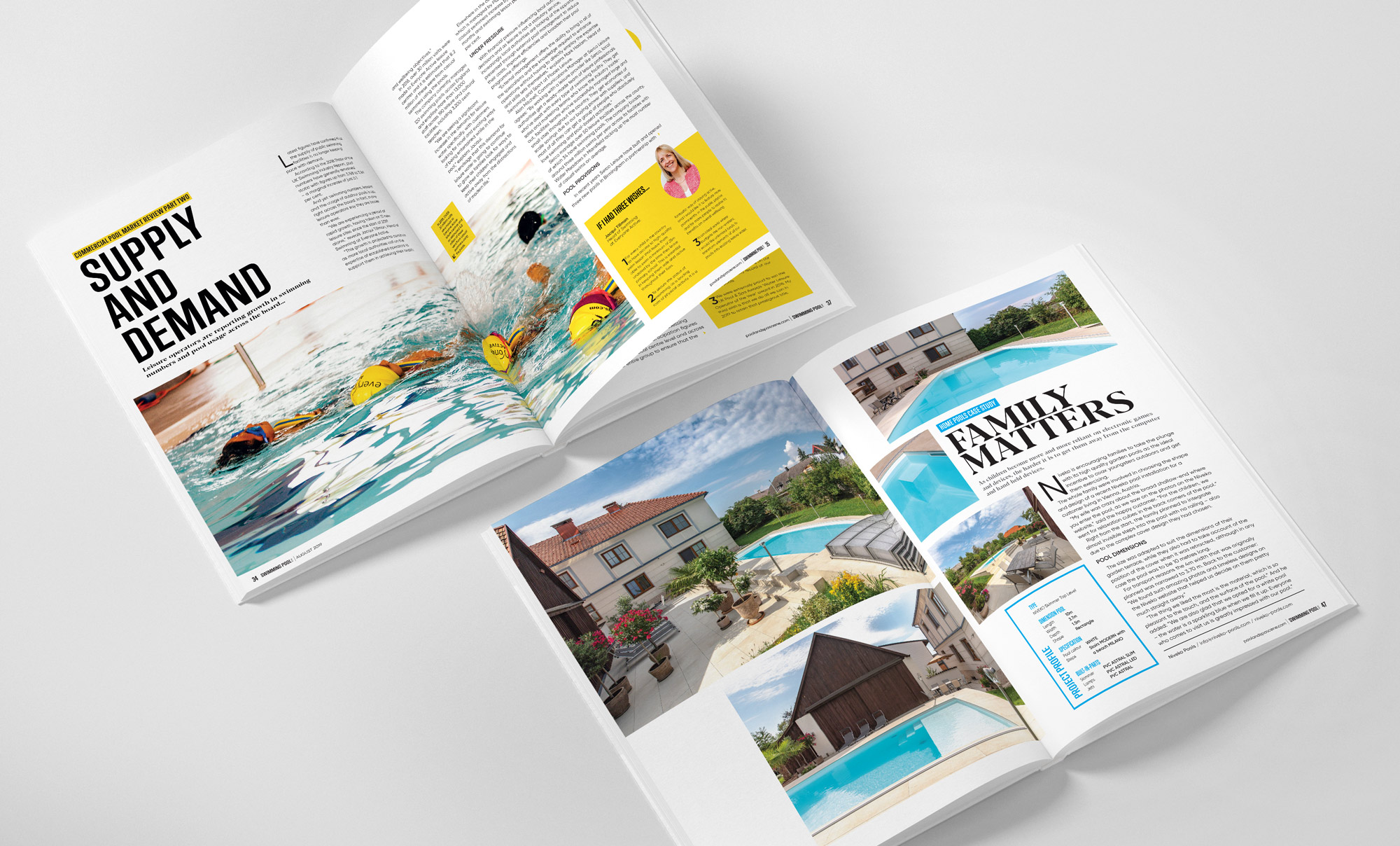 Swimming pool magazine